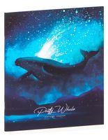 """Тетрадь полуобщая в клетку """"Pretty Whale"""" (48 листов)"""