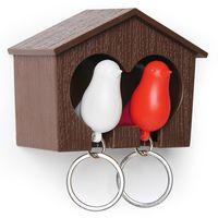 """Брелок-свисток и держатель двойной для ключей """"Sparrow"""" (коричневый/белый/красный)"""