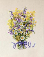 """Вышивка крестом """"Летние цветы"""" (210х290 мм)"""