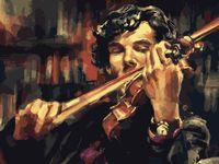 """Картина по номерам """"Вдохновение Шерлока"""" (400х500 мм)"""