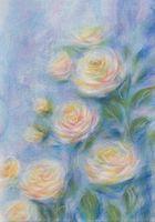 """Картина из шерсти """"Очарование роз"""""""