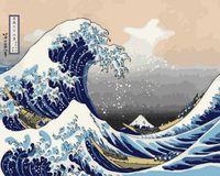 """Картина по номерам """"Большая волна в Канагаве"""" (400х500 мм)"""