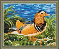 "Картина по номерам ""Утка-мандаринка"" (400х500 мм)"