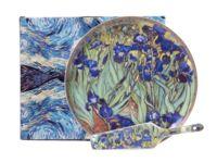 """Набор посуды для торта """"Ван Гог. Ирисы"""" (2 предмета)"""