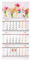 """Календарь настенный квартальный на 2021 год """"Вальс роз"""" (29,5х70 см)"""