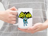 """Кружка большая белая """"Бэтмен"""" (арт. 558)"""