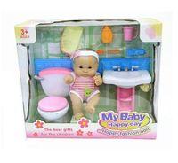 """Пупс """"My Baby"""" (с набором для ванной комнаты)"""