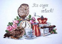 """Вышивка крестом """"Время пить кофе"""" (260х210 мм)"""
