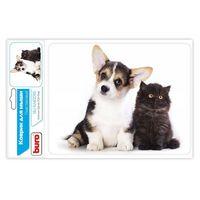 Коврик для мыши Buro BU-M40095 (рисунок/котенок и щенок)