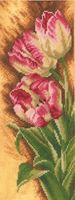 """Вышивка крестом """"Тюльпаны"""" (120х300 мм)"""