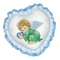 """Вышивка крестом """"Подушка. Милый ангел"""""""