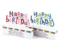 """Свеча для торта """"Happy Birthday"""" (8,5х7 см; арт. S37352030)"""