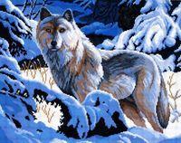"""Вышивка крестом """"Волк"""""""