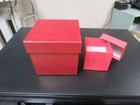 """Подарочная коробка """"Куб"""" (8х8 см, красная)"""