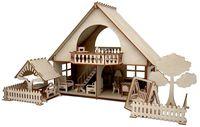 """Сборная деревянная модель """"Летний дом с беседкой и качелями"""""""