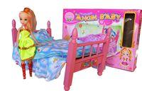 """Игровой набор """"Кукла с кроваткой"""""""