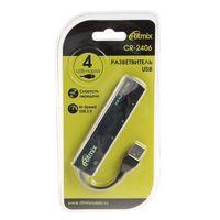 USB-хаб Ritmix CR-2406 (черный)