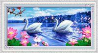 """Алмазная вышивка-мозаика """"Пара лебедей"""""""