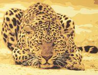 """Картина по номерам """"Леопард на охоте"""""""