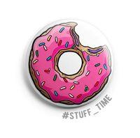 """Значок маленький """"Симпсоны. Пончик"""" (арт. 001)"""