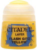 """Краска акриловая """"Citadel Layer"""" (flash gitz yellow; 12 мл)"""