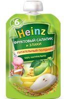 """Детское пюре Heinz Baby """"Фруктовый салатик и злаки"""" (90 г)"""