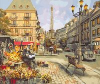 """Картина по номерам """"Цветочная лавка Парижа"""" (400х500 мм)"""