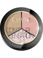 """Палитра для макияжа лица """"Contour Sensation"""" тон: 01 - розовый бежевый"""