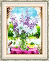 """Алмазная вышивка-мозаика """"Лилии на окне"""""""