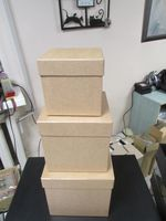 """Подарочная коробка """"Куб"""" (20х20 см, латте)"""