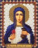 """Вышивка бисером """"Святая Равноапостольная Мария Магдалина"""" (85х105 мм)"""