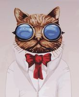 "Картина по номерам ""Кот ученый"" (400х500 мм)"