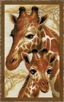 "Вышивка крестом ""Жирафы"" (220х380 мм)"