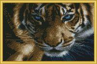 "Алмазная вышивка-мозаика ""Взгляд тигра"" (220х320 мм)"