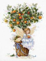 """Вышивка крестом """"Апельсиновая фея"""" (310х240 мм)"""