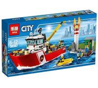 """Конструктор Cities """"Пожарный катер"""""""