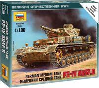 "Сборная модель ""Немецкий средний танк Pz-IV Ausf.D"" (масштаб: 1/100)"