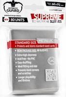 "Протекторы ""Supreme Metallic"" (66х91 мм; 80 шт; серебряные)"