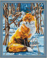 "Картина по номерам ""Лисица на снегу"" (400х500 мм)"