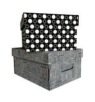 """Набор коробок """"Kardeco"""" (2 шт.; серая и черная)"""