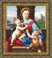 """Вышивка крестом """"Мадонна Альдобрандини"""" (474х416 мм)"""