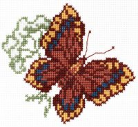 "Вышивка крестом ""Бабочка"" (140x160 мм; арт. С337Н)"