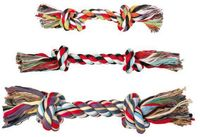 """Игрушка для собак """"Веревка с двумя узлами"""" (15 см)"""