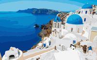 """Картина по номерам """"Средиземноморский городок"""" (500x650 мм; арт. MMC022)"""