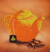 """Вышивка бисером """"Апельсиновый чай"""""""