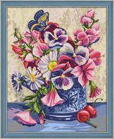 "Картина по номерам ""Ваза с бабочкой"" (400х500 мм)"
