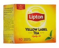 "Чай черный ""Lipton. Yellow Label"" (10 пакетиков)"