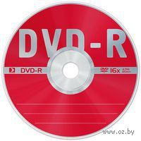 Диск DVD-R 4.7Gb 16X Data Standard CakeBox 10