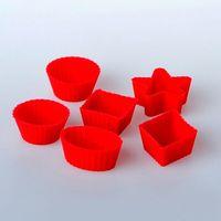 Набор форм для выпекания силиконовых (6 шт.; 3,3-3,4/2,5 см)
