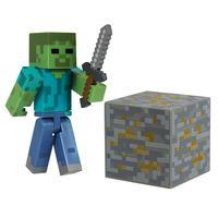 Фигурка Minecraft Zombie с аксессуарами (6 см)